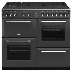 Stoves RICHMOND DX S1000DFGTGCBANT Richmond 1000mm Gas On Glass Dual Fuel Cooker – ANTHRACITE