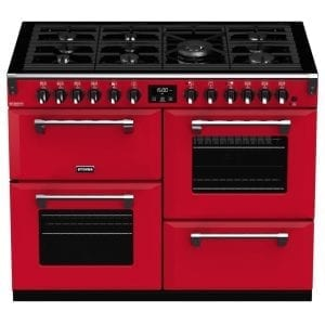 Stoves RICHMOND DX S1100DFCBHJA Richmond 1100mm Dual Fuel Cooker – RED