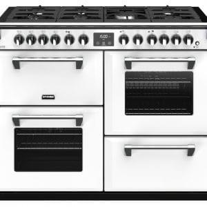 Stoves RICHMOND DX S1100DFCBIBR Richmond 1100mm Dual Fuel Cooker – WHITE