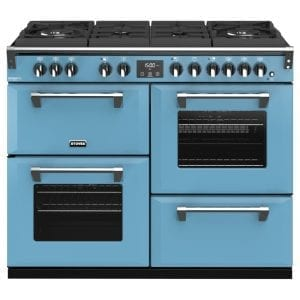Stoves RICHMOND DX S1100DFGTGCBDAB Richmond 1100mm Gas On Glass Dual Fuel Cooker – BLUE