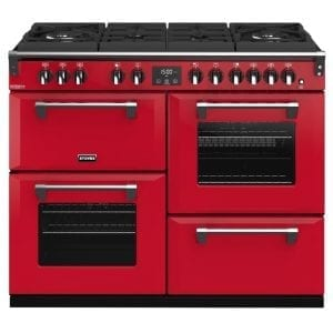 Stoves RICHMOND DX S1100DFGTGCBHJA Richmond 1100mm Gas On Glass Dual Fuel Cooker – RED