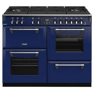 Stoves RICHMOND DX S1100DFGTGCBMGA Richmond 1100mm Gas On Glass Dual Fuel Cooker – BLUE