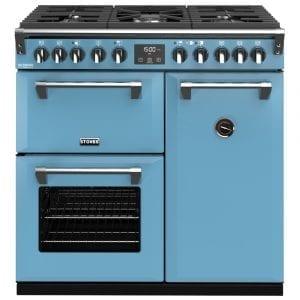 Stoves RICHMOND DX S900DFCBDAB Richmond 900mm Dual Fuel Cooker – BLUE