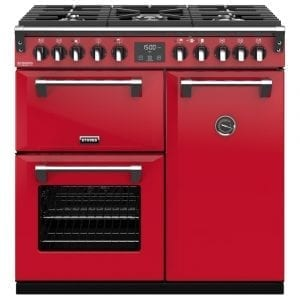 Stoves RICHMOND DX S900DFCBHJA Richmond 900mm Dual Fuel Cooker – RED