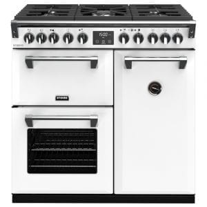 Stoves RICHMOND DX S900DFCBIBR Richmond 900mm Dual Fuel Cooker – WHITE