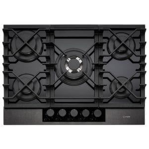 Caple C887G 70cm 5 Burner Gas On Gas Hob – GUNMETAL
