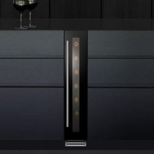 Caple WI156 15cm Freestanding Undercounter Wine Cooler – BLACK
