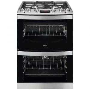 AEG CKB6540ACM 60cm Freestanding Dual Fuel Cooker – STAINLESS STEEL