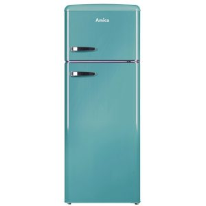 Amica FDR2213DB 55cm Retro Fridge Freezer – BLUE