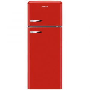 Amica FDR2213R 55cm Retro Fridge Freezer – RED