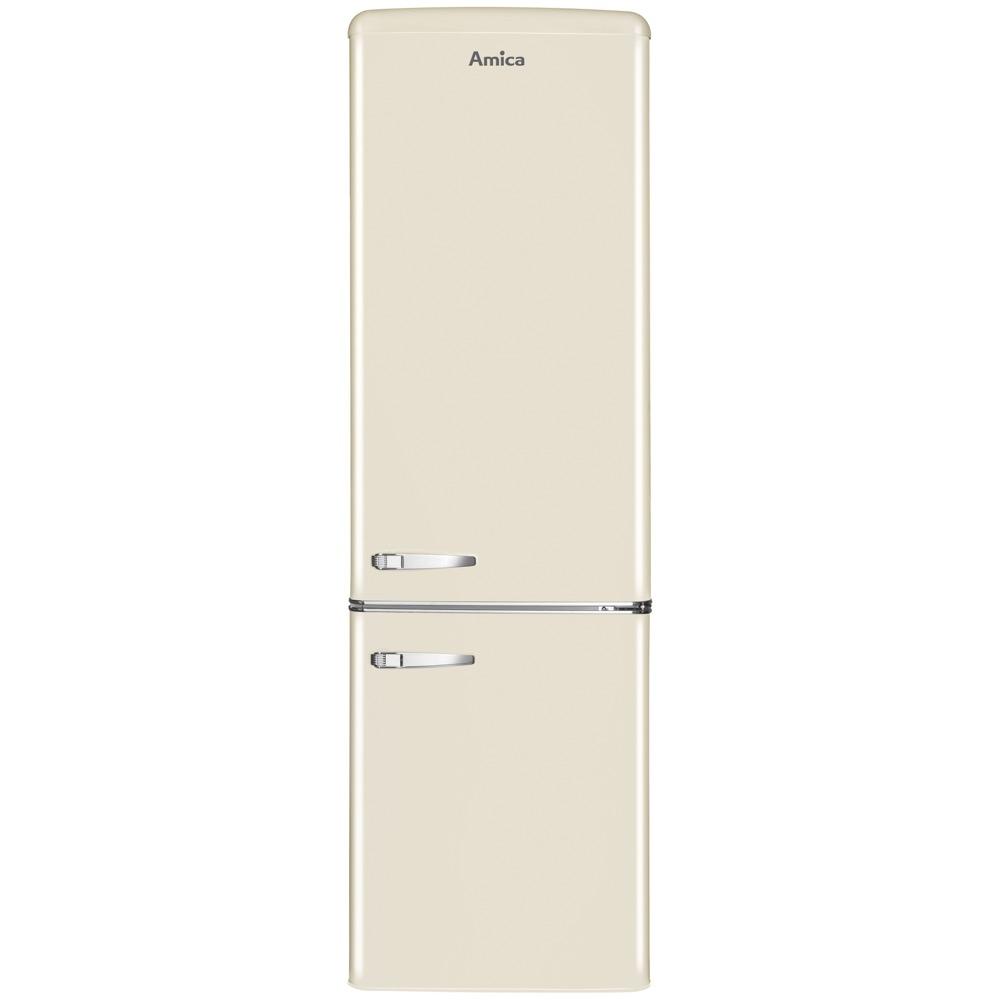 Amica FKR29653C 55cm Retro Fridge Freezer - CREAM