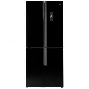 Hoover HFDN180BK French Style Fridge Freezer Non Ice & Water – BLACK