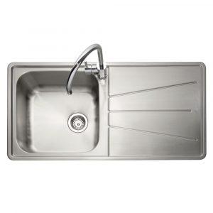 Caple BZ100/R Blaze 100 Single Bowl Inset Sink Right Hand Drainer – STAINLESS STEEL