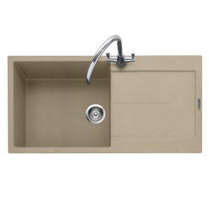 Caple CAN100DS Canis 100 Single Bowl Inset Sink Reversible Drainer – DESERT SAND