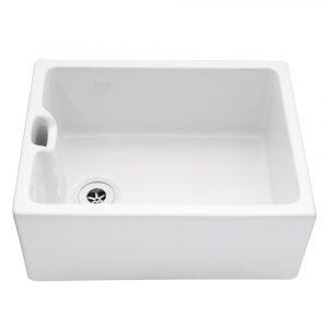 Caple CPBS Belfast 60cm Single Bowl Ceramic Sink – WHITE