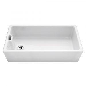 Caple CPBS36 Belfast 92cm Single Bowl Ceramic Sink – WHITE