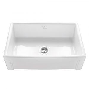Caple CPBS760 Belfast 76cm Single Bowl Ceramic Sink – WHITE