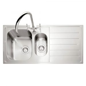 Caple LY150SS/R Lyon 150 1.5 Bowl Inset Sink Right Hand Drainer – STAINLESS STEEL