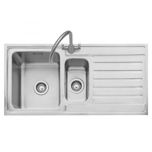 Caple VA150/R Vanga 150 1.5 Bowl Inset Sink Right Hand Drainer – STAINLESS STEEL