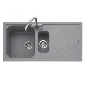 Caple VEI150PG Veis 150 1.5 Bowl Inset Sink Reversible Drainer – GREY