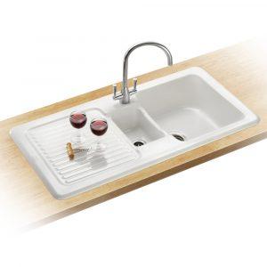 Franke VBK651 LHD V&B Ceramic Sink 1.5 Bowl Left Hand Drainer – WHITE