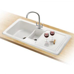 Franke VBK651 RHD V&B Ceramic Sink 1.5 Bowl Right Hand Drainer – WHITE