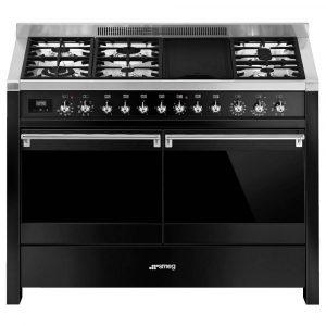 Smeg A4BL-81 120cm 'Opera' Dual Fuel Range Cooker – BLACK