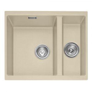 Caple LEE150UDS Leesti 150 1.5 Bowl Sink Right Hand Small Bowl – DESERT SAND