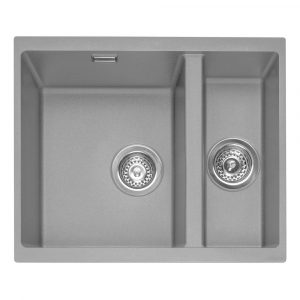 Caple LEE150UPG Leesti 150 1.5 Bowl Sink Right Hand Small Bowl – GREY