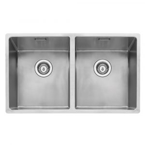 Caple MODE3434 Mode 3434 Double Bowl Sink – STAINLESS STEEL