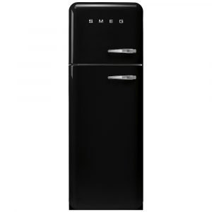 Smeg FAB30LBL3UK 60cm Retro Fridge Freezer Left Hand Hinge – BLACK