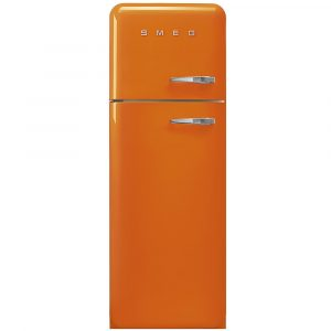 Smeg FAB30LOR3 60cm Retro Fridge Freezer Left Hand Hinge – ORANGE