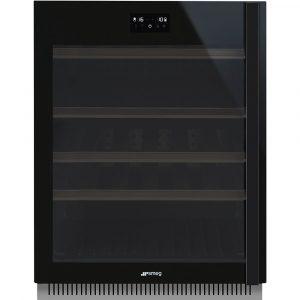 Smeg CVI638LWN2 60cm Dolce Stil Novo Freestanding Undercounter Wine Cooler Left Hand Hinge – BLACK