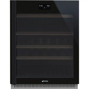 Smeg CVI638RWN2 60cm Dolce Stil Novo Freestanding Undercounter Wine Cooler Right Hand Hinge – BLACK