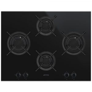 Smeg PV664LCNX 65cm Dolce Stil Novo 4 Burner Gas On Glass Hob – STAINLESS STEEL