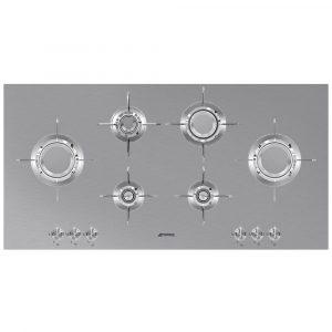 Smeg PXL6106 100cm Dolce Stil Novo 6 Burner Gas Hob – STAINLESS STEEL
