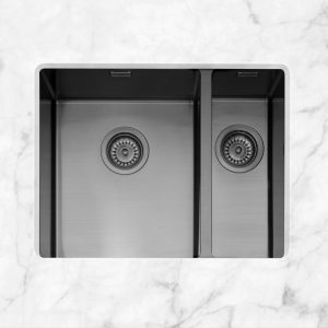 Caple MODE3415/R/GM Mode 3415 1.5 Bowl Sink Right Hand Small Bowl – GUNMETAL