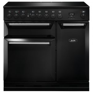 AGA Masterchef MDX90EIBLK Masterchef Deluxe 90cm Induction Range Cooker 121800 – BLACK
