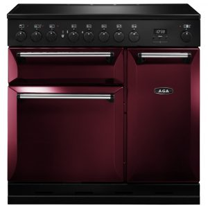 AGA Masterchef MDX90EICBY Masterchef Deluxe 90cm Induction Range Cooker 121810 – CRANBERRY