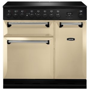 AGA Masterchef MDX90EICRM Masterchef Deluxe 90cm Induction Range Cooker 121820 – CREAM