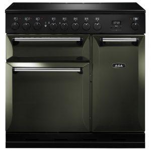 AGA Masterchef MDX90EIPWT Masterchef Deluxe 90cm Induction Range Cooker 121840 – PEWTER