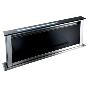 Caple DD903BK 85cm Flip Operation Downdraft Extractor – BLACK