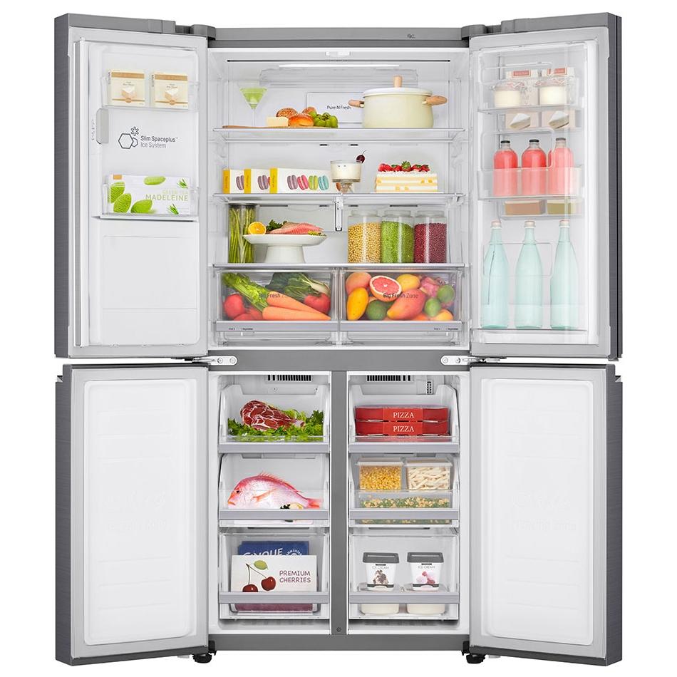 LG GMJ844PZKV Slim Door In Door French Style Fridge Freezer With Ice And  Water - STAINLESS STEEL