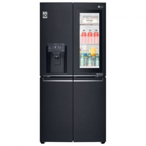 LG GMX844MCKV Door In Door Instaview French Style Fridge Freezer With Ice And Water – BLACK