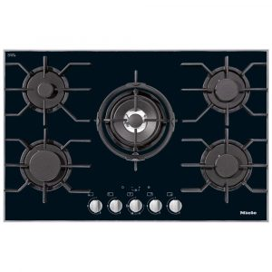 Miele KM3034-1 80cm Five Burner Gas On Glass Hob – STAINLESS STEEL