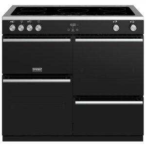 Stoves PREC DX S1000EIBK Precision Deluxe 100cm Induction Range Cooker 10757 – BLACK