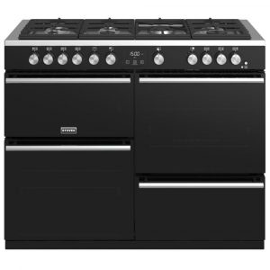 Stoves PREC DX S1100GBK Precision Deluxe 110cm Gas Range Cooker 10765 – BLACK