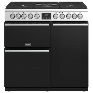 Stoves PREC DX S900DFSS Precision Deluxe 90cm Dual Fuel Range Cooker 10744 – STAINLESS STEEL