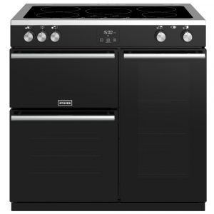 Stoves PREC DX S900EIBK Precision Deluxe 90cm Induction Range Cooker 10755 – BLACK