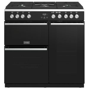 Stoves PREC DX S900GBK Precision Deluxe 90cm Gas Range Cooker 10761 – BLACK